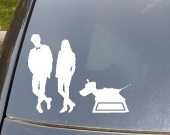 The Doctor and Friends Car Sticker set of 3