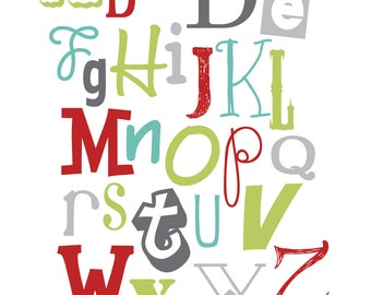 Alphabet and Numbers Print SET