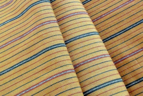 Guatemalan Fabric in Gold with Green and Rust