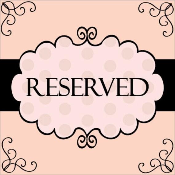 Reserved listing for Nance