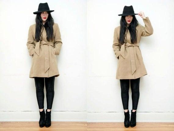 Images of Tan Pea Coat - Reikian