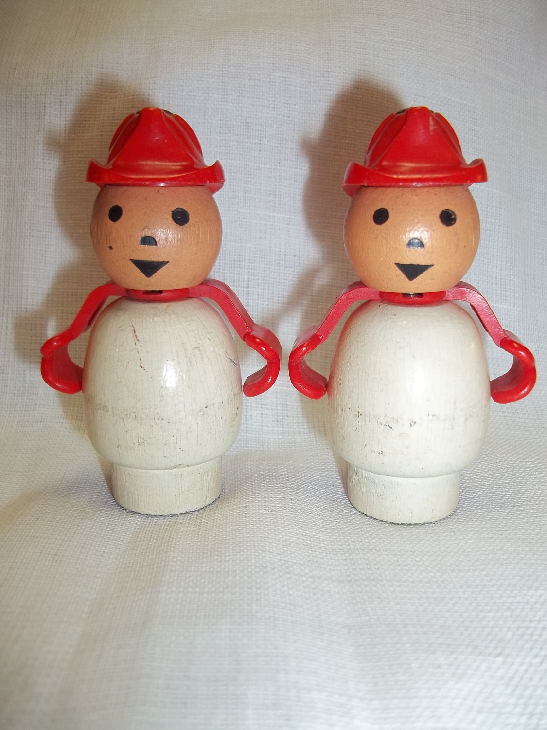 vintage rare fisher price little people fireman two by. Black Bedroom Furniture Sets. Home Design Ideas