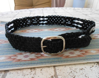 Macrame Belt in Black