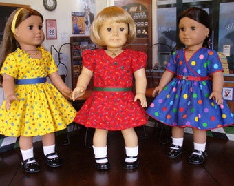 Doll Clothes Patterns At the Soda Shoppe  No 1021