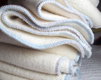 Sherpa Prefolds , Newborn Cloth Diaper , Set of 2, Choose Colors