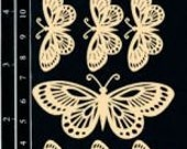 Dusty Attic Chipboard - Flutterbies (8/pack) DA0766