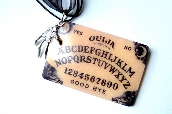 Gothic Necklace Halloween Necklace Ouija, Skeleton, Steampunk Victorian Gothic Halloween Jewelry by pennyfarthingdesigns on Etsy