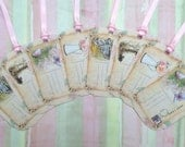 In The Garden Postcards Gift Tags set of 8 No. 504 DOUBLES