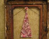 Mosaic Pink Flocked Christmas Tree Mod Christmas Tree Mosaic Art