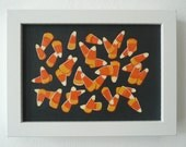 17. CANDY CORN from 100 tiny brushstrokes (the childhood memory project) - Original Painting