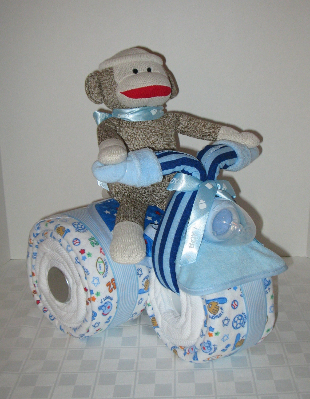 Baby gift baby cake tricycle trike diaper cake by arizonababycakes