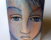 Original Art Painting - IN HER EYES - Miniature aceo portrait painting