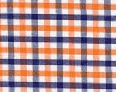 Fabric Finders Blue and Orange Tri-Check Fabric
