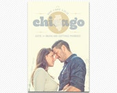 Save The Date Postcard or Magnet - Symbol Engagement Card
