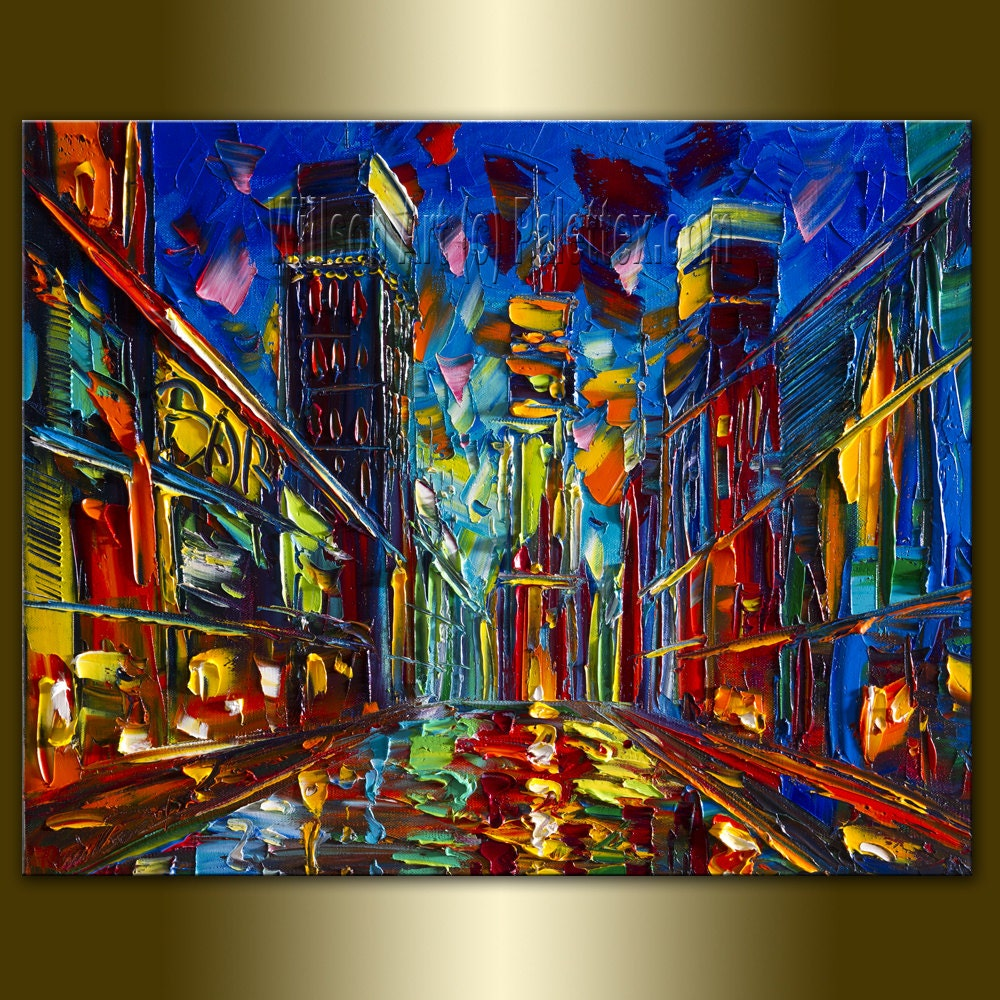 viewing gallery for abstract cityscape painting dog breeds p