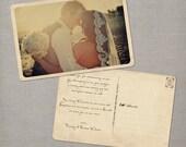 "Vintage Wedding Thank You Postcards, Wedding Thank You Cards, Thank You Note Cards, Vintage cards, thank you card - the ""Narissa"""