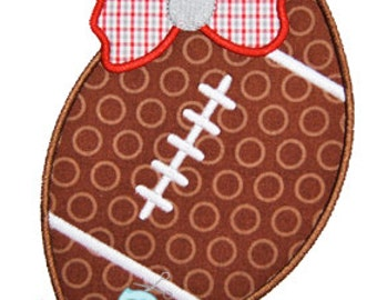 Football Bow 2 Applique Design For Machine Embroidery  INSTANT DOWNLOAD now available