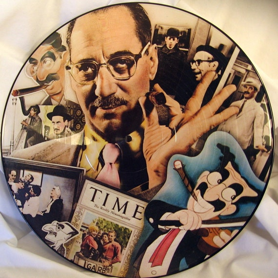 Vintage LP Groucho Marx 2 sided picture disc record  Adorable Evening With Groucho 1978