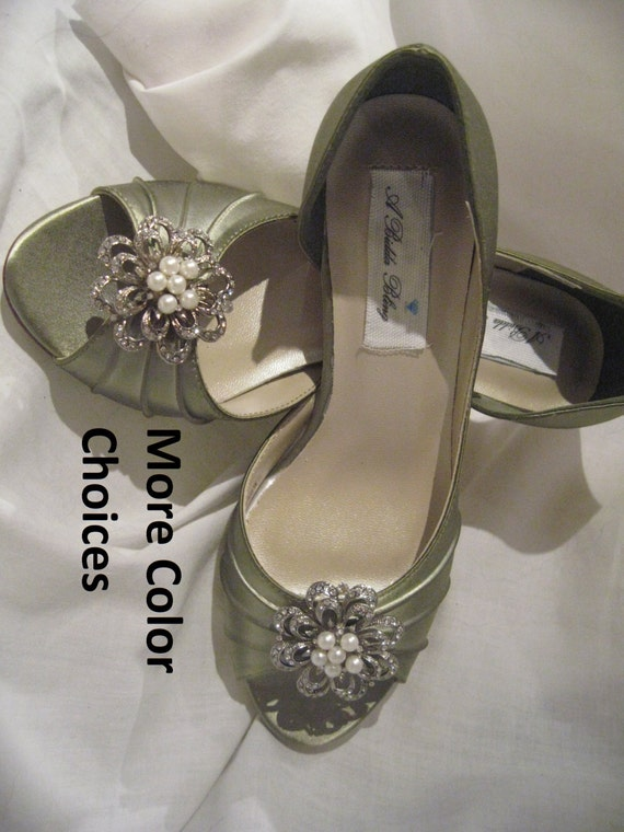 Wedding Shoes Sage Green Vintage Inspired Green Bridal Shoes