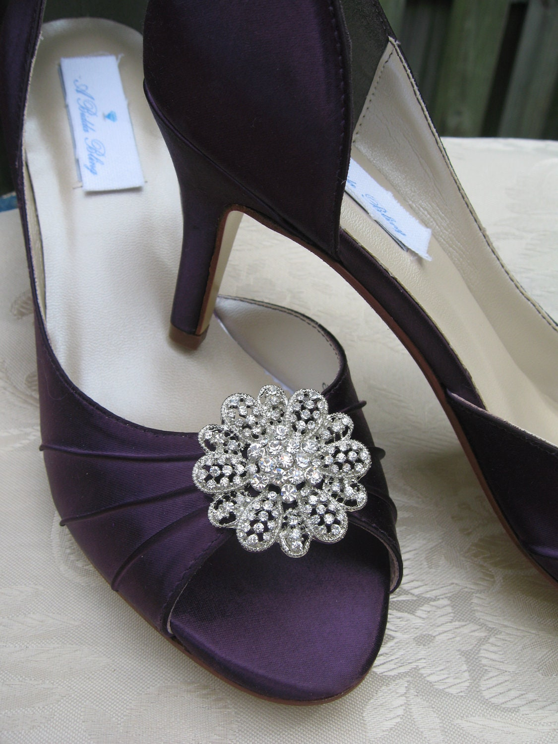 eggplant wedding shoes purple eggplant bridal shoes with by abiddabling 3842