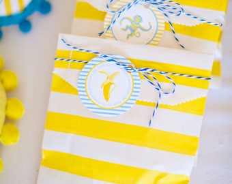 DIY Printable Favor Tag - Blue Monkey Party