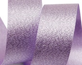 Metallic Sparkle Purple Satin Ribbon - 15mm(5/8''), and 25mm(1'') - Glitter Ribbon