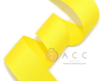 Yellow Grosgrain Ribbon - 5mm(2/8''), 10mm(3/8''), 15mm(5/8''), 25mm(1''), 40mm(1 1/2'')