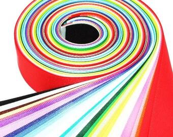 60Yards 25mm(1'') 60 Colors Single Faced Satin Ribbon Set 30%off