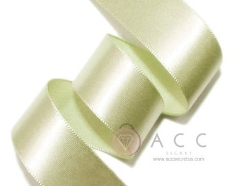 Leaf Green Single Faced Satin Ribbon - 5mm(2/8''), 10mm(3/8''), 15mm(5/8''), 25mm(1''), 40mm(1 1/2''), and 50mm(2'')
