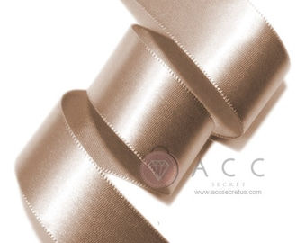 Mocha Single Faced Satin Ribbon - 5mm(2/8''), 10mm(3/8''), 15mm(5/8''), 25mm(1''), 40mm(1 1/2''), and 50mm(2'')