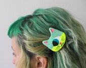 Made to order - Cyclop Space Cat Barrette or Brooch