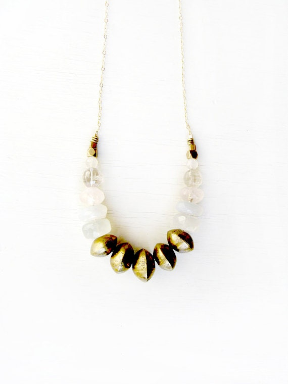 Snowball Gemstone necklace v2