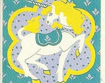 Vintage 80's Illuminations Unicorn Sticker