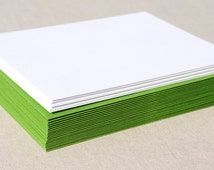 Blank Stationery Set with Vibrant Green Envelopes - Set of 20 Flat A2 Size Cards