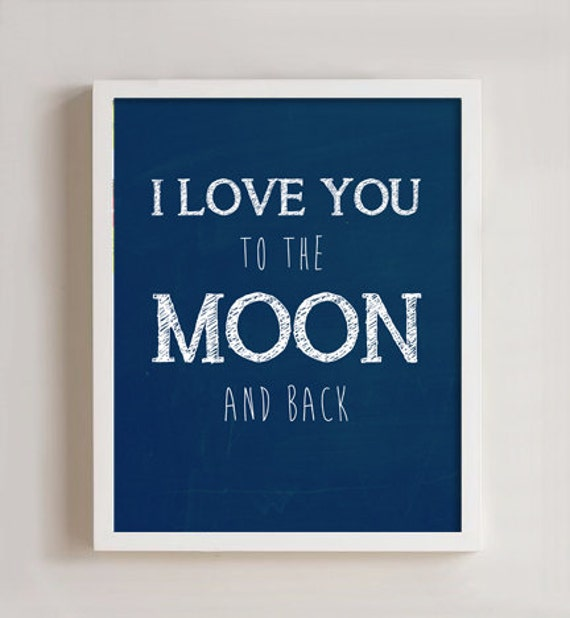 Items Similar To I Love You To The Moon And Back Vinyl: Items Similar To 8 X 10 I Love You To The Moon And Back