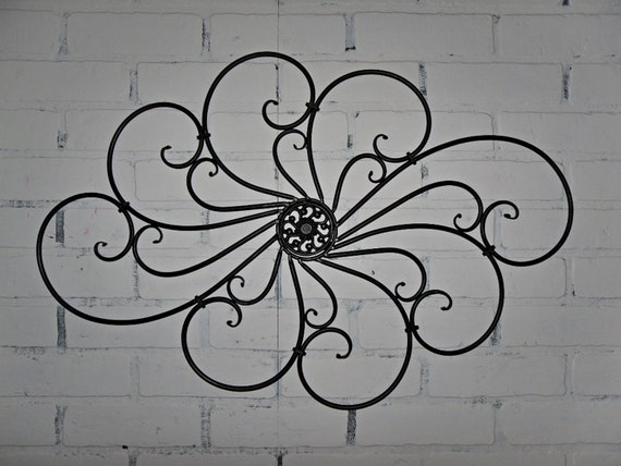 Items Similar To Wrought Iron Wall Decor/ Wall Hanging