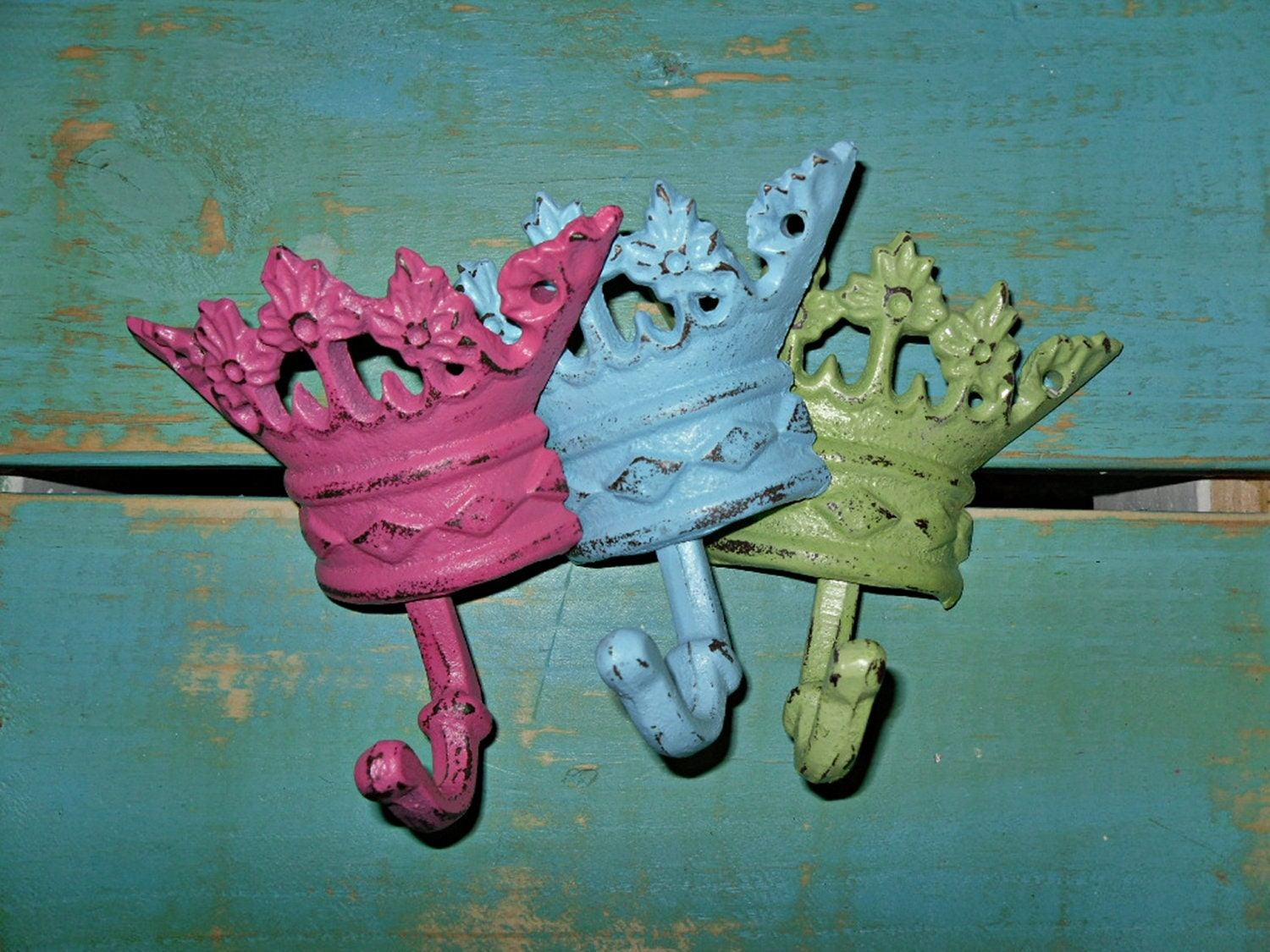 Princess Hook / Cast Iron wall Decor / Wall Hook by Theshabbyshak