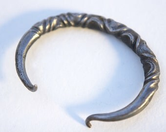 Celtic Ancient Cuff  twisted with spiral ends
