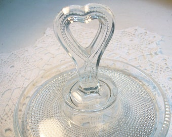 Heart Glass Dish //