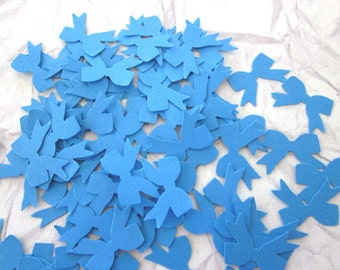 100 Turquoise  Bow Die Cuts