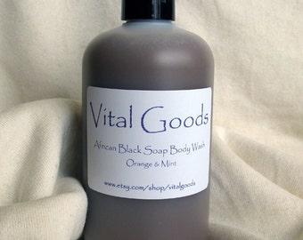 Orange & Mint African Black Soap Body Wash