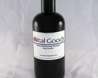 Dreadlock shampoo Neem Nag Champa Black Soap Shampoo 12oz (VEGAN)