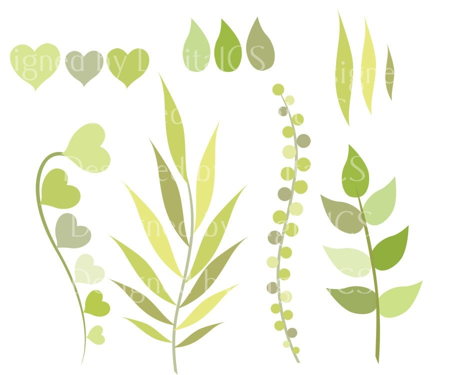 flower leaf clipart - photo #18
