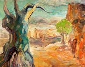 The tree of life 28x24 inch original oil painting by Nikolov