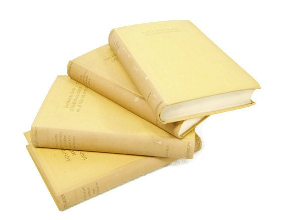 Soft Yellow decorative book collection