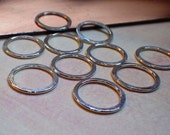 Sterling Silver 16ga handmade lightly hammered circles 14mm (1)