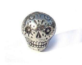 Green Girl Studios Sugar Skull Bead Pewter