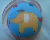 Elephant Tape Measure - yellow on light blue