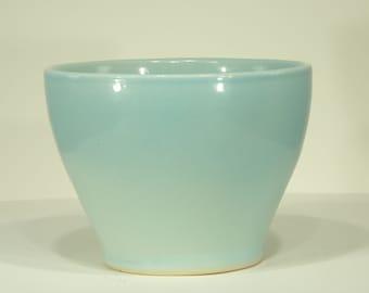 Ceramic Vase, Sapporo Blue, Shiny Glaze, Handmade, Pottery, Ornamental Vessel, Home Decor, MJS, 101