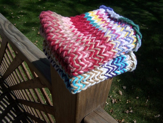 Knitted Cotton Dishcloths Washcloths Facecloths Oddballs Seconds - Ready to Ship